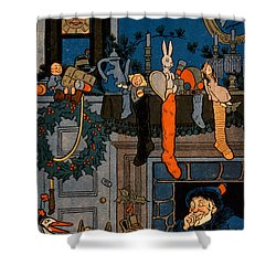 The Night Before Christmas Shower Curtain by Denlow