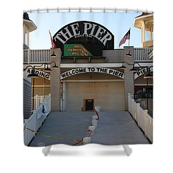 The Pier Shower Curtain by Michael Mooney