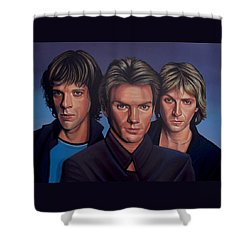 The Police Shower Curtain by Paul Meijering