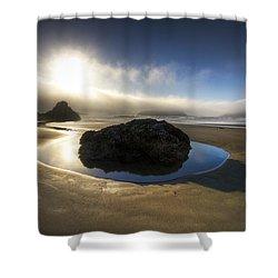 The Rock Shower Curtain by Debra and Dave Vanderlaan
