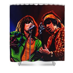 The Rolling Stones 2 Shower Curtain by Paul Meijering