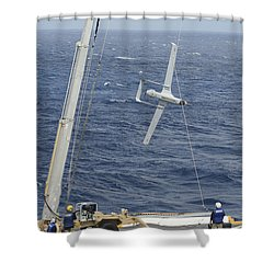The Rq-21a Small Tactical Unmanned Air Shower Curtain by Stocktrek Images