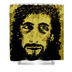 The Savior Shower Curtain by Alys Caviness-Gober