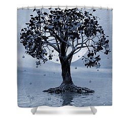 The Tree That Wept A Lake Of Tears Shower Curtain by John Edwards