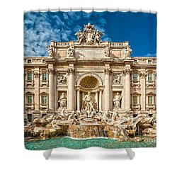 The Trevi Fountain - Rome Shower Curtain by Luciano Mortula