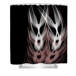 The Twins Shower Curtain by Christopher Gaston