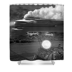The Wait Shower Curtain by Mike McGlothlen