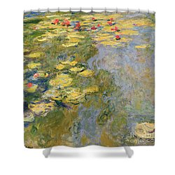 The Waterlily Pond Shower Curtain by Claude Monet