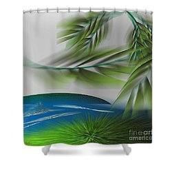 The Wind She Blows Shower Curtain by Iris Gelbart
