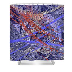 The Writing On The Wall 10 Shower Curtain by Tim Allen