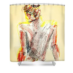 Thinking Back Shower Curtain