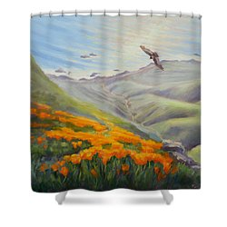 Through The Eyes Of The Condor Shower Curtain