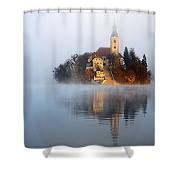 Through The Mist Shower Curtain by Ian Middleton