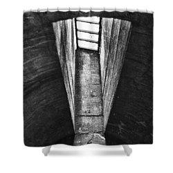Through The Pane Shower Curtain by Scott Wyatt