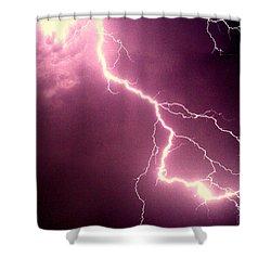 Lightning Shower Curtain by Salman Ravish