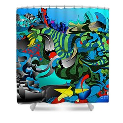 Tides Awry  Shower Curtain