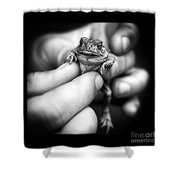 Toad In Hand Shower Curtain