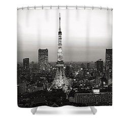 Tokyo Tower At Night Shower Curtain
