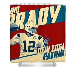 Tom Brady Shower Curtain by Taylan Apukovska
