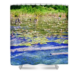 Torch River Water Lilies Shower Curtain