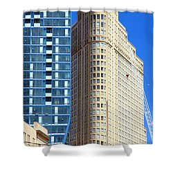 Toronto Architecture Shower Curtain by Valentino Visentini