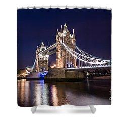 Tower Bridge Shower Curtain by Matt Malloy