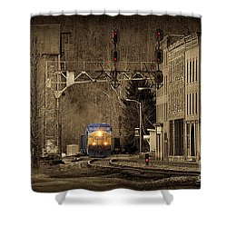 Train At Thurmond Wv Shower Curtain by Dan Friend