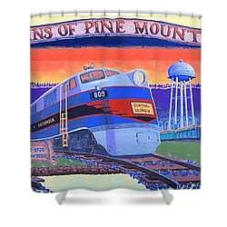 Trains Of Pine Mountain Shower Curtain