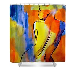 Tranquility Shower Curtain by Helena Wierzbicki