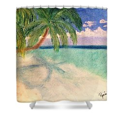 Tropical Shores Shower Curtain