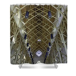 Trussed Arches Of Uf Chapel Shower Curtain by Lynn Palmer