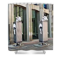Cow Parade N Y C 2000 - Twin Cowers Shower Curtain