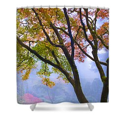 Two Heron  Shower Curtain by Lori Grimmett