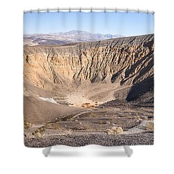 Ubehebe Crater Shower Curtain by Muhie Kanawati