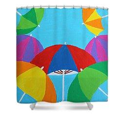 Umbrellas Shower Curtain