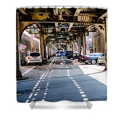 Under The L Tracks Shower Curtain