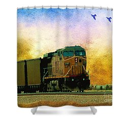 Union Pacific Coal Train Shower Curtain