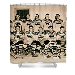 University Of Michigan Hockey Team 1947 Shower Curtain by Mountain Dreams