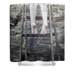 Upwards Shower Curtain by Joana Kruse