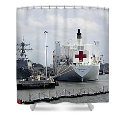 Us Naval Hospital Ship Comfort Shower Curtain