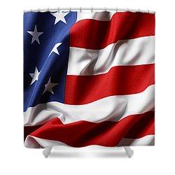 Usa Flag No.52 Shower Curtain