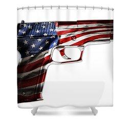 Usa Gun 1 Shower Curtain