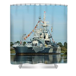 Uss North Carolina Battleship Shower Curtain