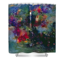 Valley Of The Waterfalls Shower Curtain by Jane Deakin
