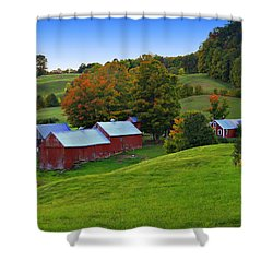 Vermont's Jenne Farm Shower Curtain by John Vose