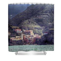 Vernazza Shower Curtain by Joana Kruse