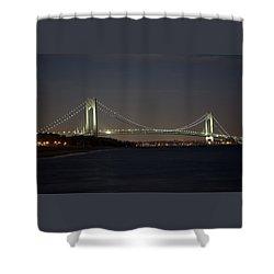 1 Verrazano Narrows Bridge At Twilight Shower Curtain