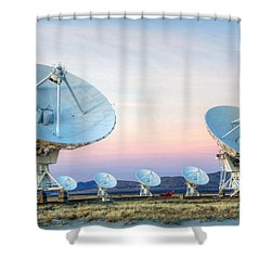 Very Large Array Of Radio Telescopes  Shower Curtain by Bob Christopher