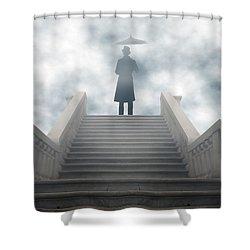 Victorian Man Shower Curtain by Joana Kruse