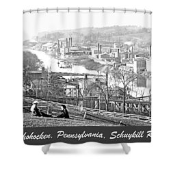 View Of Conshohocken Pennsylvania C 1900 Shower Curtain